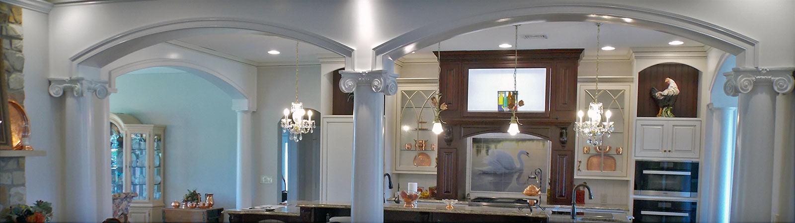 Custom home kitchen area